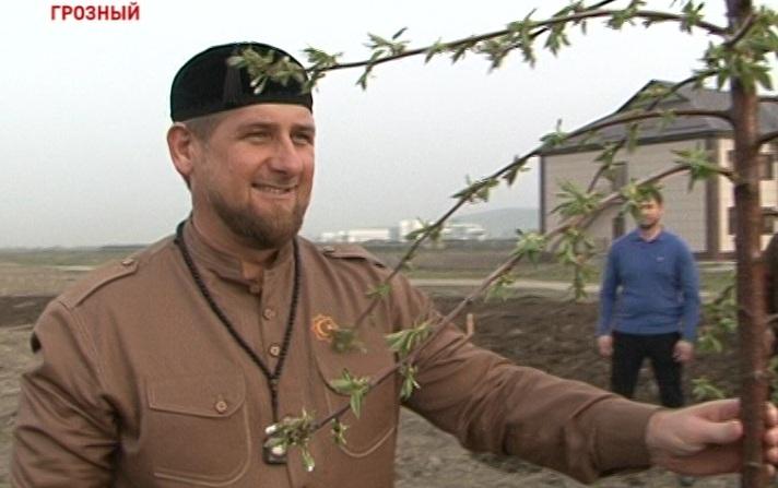 Р. Кадыров принял участие в закладке сада памяти