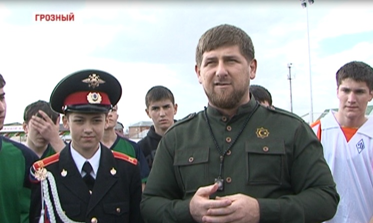 Р. Кадыров принял участие в открытии спорткомплекса в Суворовском училище