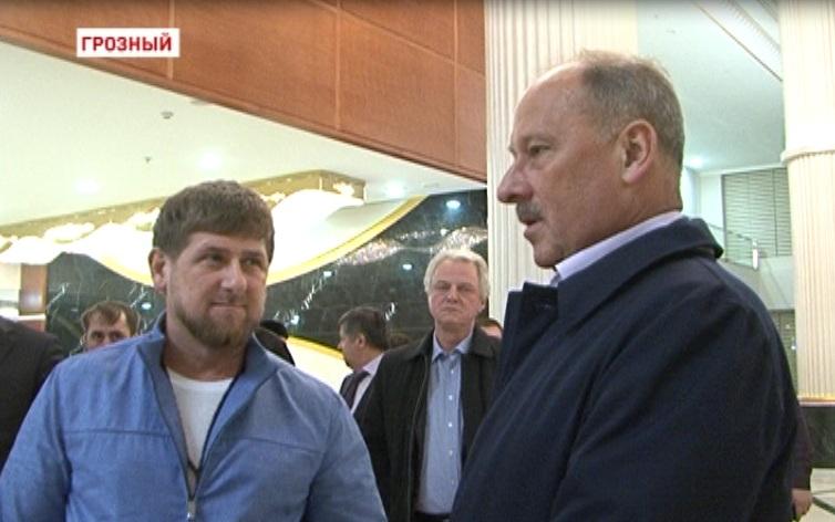 Встреча Р.Кадырова с председателем Внешэкономбанка Владимиром Дмитриевым